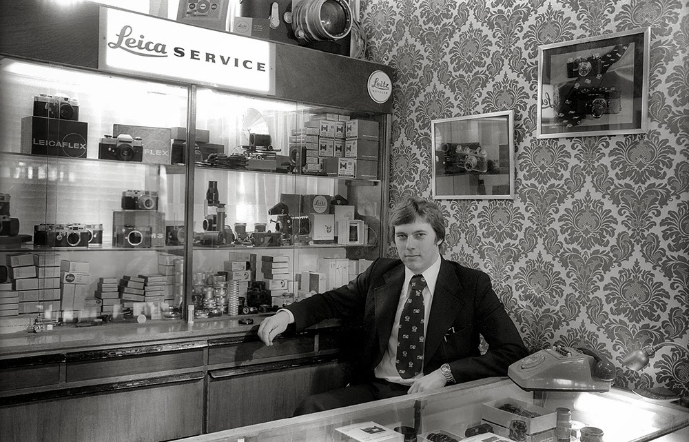 Wilf James at Hove Camera in the mid 70s