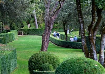 Walking through the Jardin de Marqueyssac.