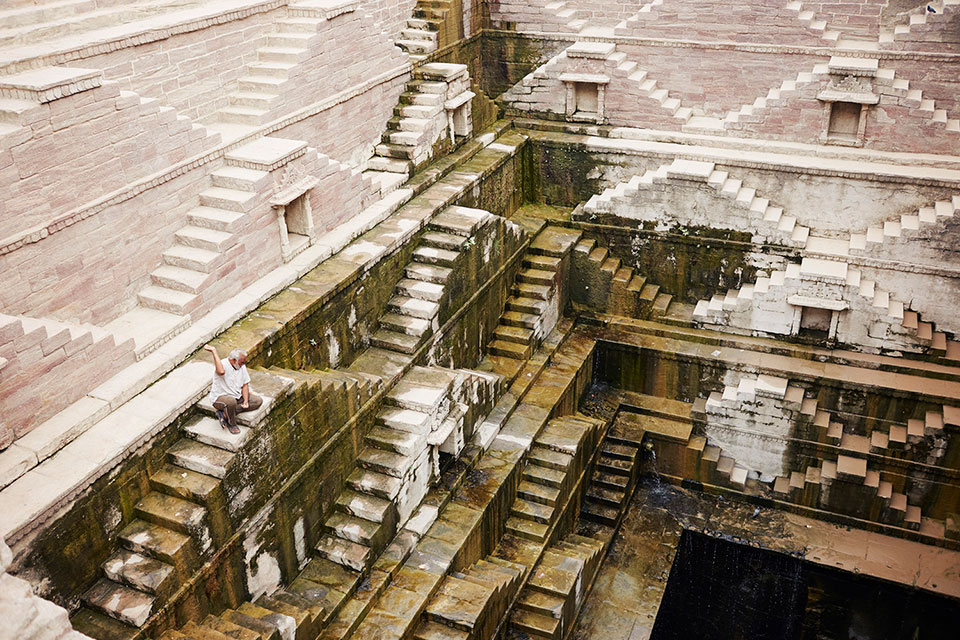Stairways in a temple
