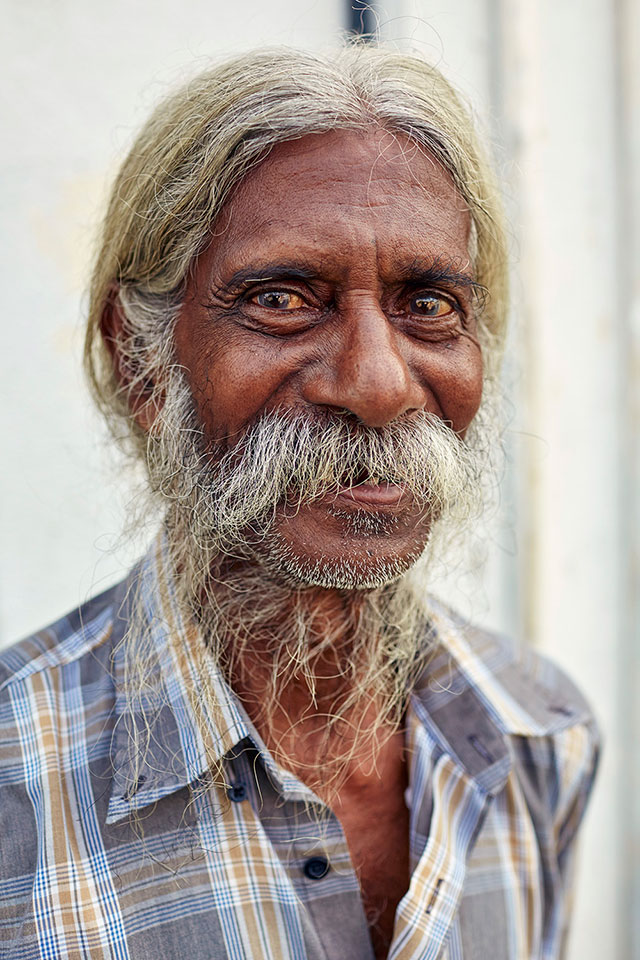 Indian man with a mouchtash.