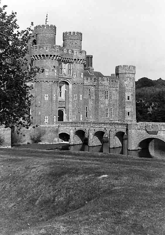 Herstmonceux Castle, from the observatory grounds - taken with the Kino Tessar lens from Barnack's 1913 cine camera: Pic-MTUK