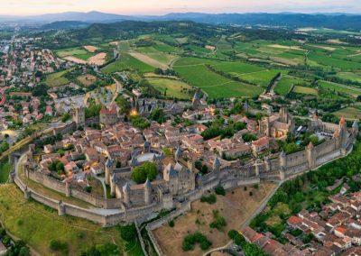 The walled Cite of Carcassonne
